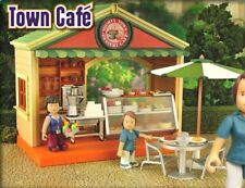 Rare Mighty World Town Cafe Set Town Life, Excellent Used Condition!