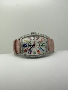 Frank Muller 18ct white gold&diamond Cintree Curvex  Watch automatic