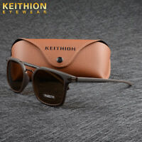 KEITHION Mens Polarized Vintage Retro Sunglasses TR90 Frame Driving Eyewear 001