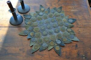 PRIMITIVE WOOL APPLIQUE PENNY RUG PATTERN TRADITIONAL EARLY PENNY RUG *NEW*