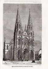 75 PARIS BASILIQUE EGLISE SAINTE CLOTILDE IMAGE 1877 PRINT