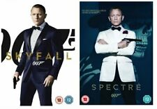 Skyfall & Spectre DVD James Bond 007 Daniel Craig Ian Fleming UK Region 2 PAL