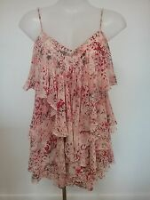 As New FOREVER NEW sz 6 Peach Tiered Ruffle Strappy Dress Buy Any 3=Free Post
