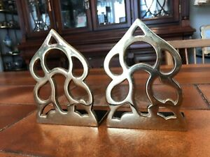 "Pair of Monticello Brass Bookends 1983 Virginia Metalcrafters, 5 1/2"" T, 4"" Wide"