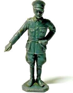 Marx German Officer Gray Plastic WW2 Play Toy Figure