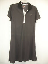 NEW Puma Golf Tech Dress Black Gray Micro Dot Dry Cell Moisture Wicking Size L