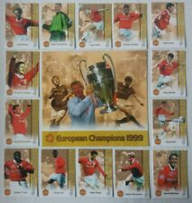 Futera 1999 European  Champions Manchester United 14 Card Set + XL Centre Piece