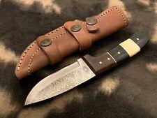 Damascus steel Bushcraft knife , Survival , Combi Horn/Bone/Wood