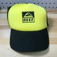 Reef Sandals & Apparel Cap Logo Classic Trucker Snapback Hat Yellow & Black