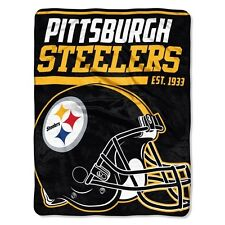 "New NFL Pittsburgh Steelers Soft Micro Rasche Large Throw Blanket 46"" X 60"""
