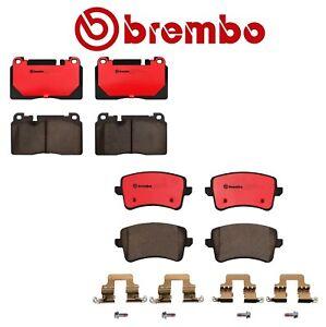 For Audi Q5 13-17 Front Rear Ceramic Brake Pads Kit with Standard Brakes Brembo