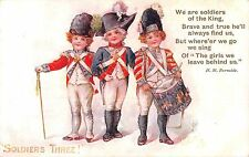 POSTCARD  CHILDREN  MILITARY  FOR KING & COUNTRY  Soldiers  Three       TUCK