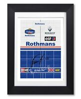 DAMON HILL SIGNED RACE SUIT 1996 POSTER PRINT PHOTO AUTOGRAPH GIFT F1 WILLIAMS