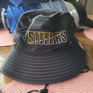Pittsburgh Steelers NFL On-Field Training Camp Bucket New Era Men's Hat Black