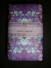 New Asquith & Somerset Made in Portugal 10.58oz/300g Bath Bar Soap Blue Iris