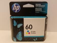 HP 60 Tri-Color Genuine Ink Cartridge CC643WN New Sealed EXP 01/2020