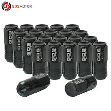 GDS 20 Black Aluminum 12x1.5 Wheel Lug Nuts 50mm for Toyota Camry Corolla Yaris