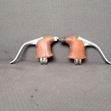 Dia-Compe Road Brake Levers Drillium Drilled Aluminum Non-Aero Vintage Gum Hoods