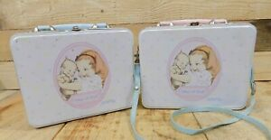 Lot of 2 Jesco Kewpie Lunch Boxes What A Doll, 2003, Extra Outfit In Each One!
