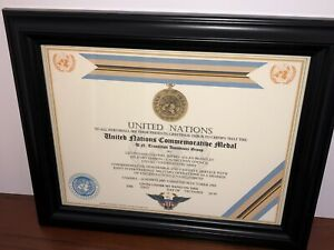 U.N. TRANSITION ASSISTANCE GROUP COMMEMORATIVE MEDAL CERTIFICATE ~ Type 1