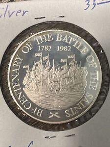 SAINT LUCIA 10 Dollars 1982 - Battle of the Saints Silver Proof