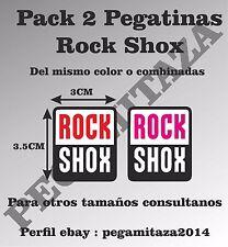 Pegatina Rock Shox Sticker Vinilo Adhesivo bicicleta deporte bmx btt horquilla