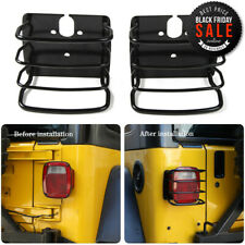 Rear Tail Light Cover Lamps Trim Guards Covers For Jeep Wrangler Tj 1997 06 2pcs Fits Jeep