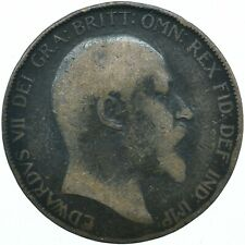 1908 ONE PENNY COIN EDWARD VII GREAT BRITAIN BEAUTIFUL COLLECTIBLE    #WT31316