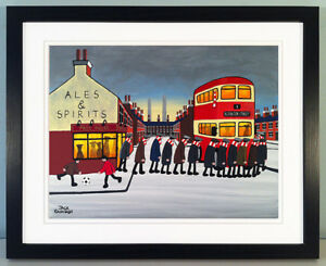 """JACK KAVANAGH """"GOING TO THE MATCH"""" ACCRINGTON STANLEY FRAMED PRINT"""