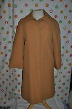 vintage JEROLD 1960'S  ALL WEATHER M WOMENS COAT RETRO zip out lining  MAD MEN