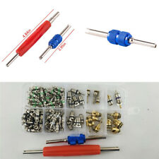 100x Air Conditioning Valve Stem Core A/C R12 R134a + 2x Remover Tools Universal