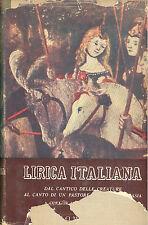 Lirica italiana: Dal cantico delle creature al canto di un pastore errante