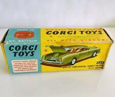 Vintage CORGI TOYS #224 BENTLEY CONTINENTAL SPORTS SALOON ORIGINAL EMPTY BOX