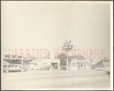 Vintage Photo Cars w/ Miracle Drive In Sign Roadside Stockton California 671923