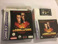 NINTENDO GAME BOY ADVANCE GBA SP GAME THE SUM OF ALL FEARS COMPLETE PAL