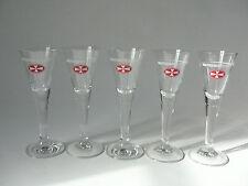 5 x Original Malteserkreuz Aquavit Schnapsglas Stielglas Kurzer 2cl