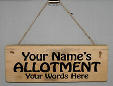 Personalised Name Allotment Sign Plaque Shed Garden Gardening Greenhouse Outdoor