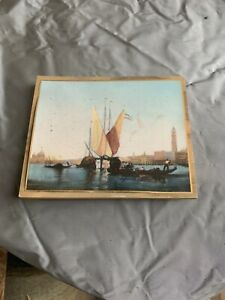 Vintage Wall Art With Wooden Framing