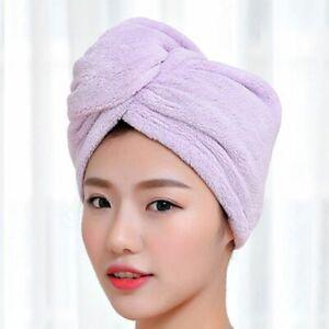 Women Towels Microfiber Hair Turban Wrap Soft Shower Head Quick Dryer Bathing