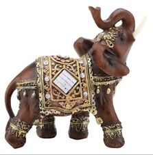 Wood Elephant Sculpture Hand Carved Wooden Figurine Lucky Statue home decor