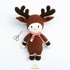 Dark Brown Reindeer - Baby Toy - Handmade Amigurumi toy - thebunny.gift