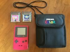 Nintendo Game Boy Color Console, Case, and Games - Pink