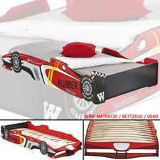 🏁 Kinderbett GTA 190x90cm 200x90cm Jugendbett Autobett rot Bett  F1 Rennwagen