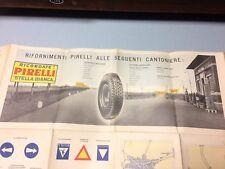 PNEUMATICI PIRELLI STELLA BIANCA 1937 OMAGGIO CARTA AUTOSTRADE TO - MI- LAGHI