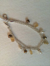 Smokey Topaz & Pearl Silver Bracelet By Elements