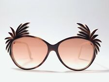 "NEW VINTAGE MICHELE LAMY FOR VICTOR GROS "" COCOTIER ""  OVERSIZED 1980 SUNGLASSES"