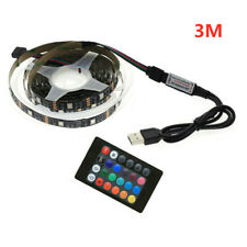3M USB LED Strip Lights IP65 5050 RGB TV LED Strip light With Remote Controller