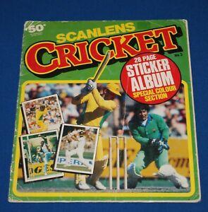 1984/85 Scanlens Cricket Sticker Album Complete - All Stickers Including Foils