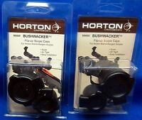 2x Genuine Horton BUSHWACKER Flip-up Caps for SS047 Mult-A-Range Scope Crossbow