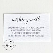 10 x WHITE Wishing Well Cards Simple Wishing Well for Wedding Invitations DIY AU